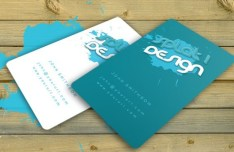 Rounded Green and White Business Cards with Splash Backgrounds