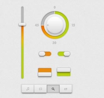 Minimal White UI Kit PSD