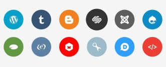 Publicons - 12+ Flat Social Icons