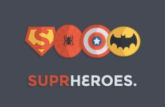Superhero Icons PSD