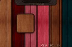6 Colors Wooden Patterns
