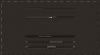 Dark Sliders with Percentages PSD