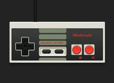 Nintendo NES Controller PSD