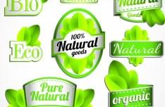 BIO & Natural Product Badge Icons Vector 02