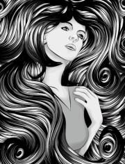 free creative woman hair design