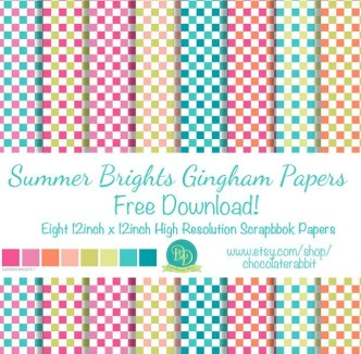 12+ Summer Gingham Papers