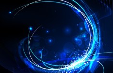 Blue Science Lines and Halos Background Vector