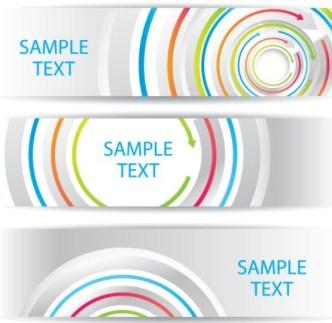 Colorful Circular Arrows Banner Templates Vector 01