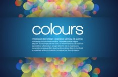 Abstract Colorful Halos Background Vector