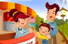 Cartoon Family Life Vector Illustration 06