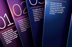 Vector Dark Purple Vertical Banners with Numbers 03