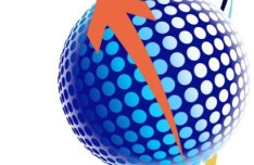 Abstract Globe and Arrow Background Vector