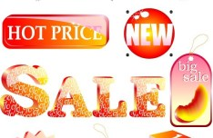 Set Of Vector Retail Sale and Promotion Icons