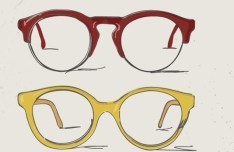 4 Hand Drawn Vector Glasses