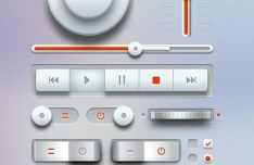 Light Music UI Design Kit PSD