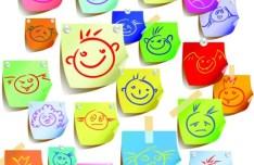 Set Of Vector Cartoon Kid Stickers