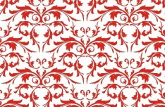 Simple Red Floral Patterns Vector