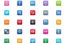 225+ Minimal Rounded Social Icons (PNG and PSD)