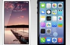 Apple iPhone 5 with iOS 7 PSD Mockup