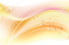 Bright Floral and Abstract Wave Background Vector 01