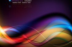 Gorgeous Abstract Colorful Curves Background Vector 04