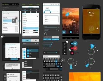 Nexus 4 GUI Design Elements PSD