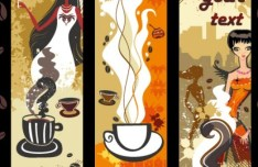 Set Of Vector Coffee and Beauty Banners