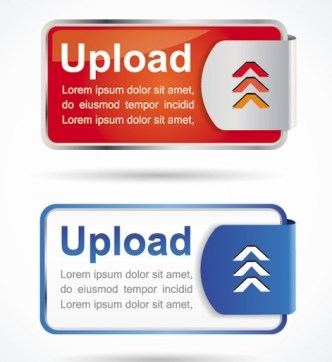 Stylish Vector Upload Buttons & Labels