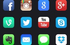 12+ New iOS 7 Style Social Media APP Icons