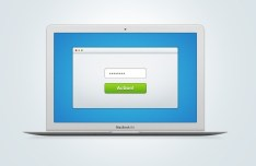 Apple Macbook Air PSD Mockup