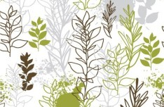 Clean Hand-Drawn Floral Patterns Vector 03