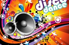 Gorgeous Disco Dance Poster Background Vector