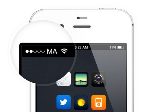 iOS 7 Signal Dots