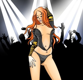 Sexy Disco Girl Vector Illustration