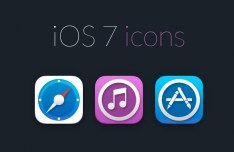 3 iOS 7 Icons PSD