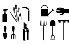 Black Agriculture Icons Vector