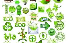 Green ECO Concept Design Elements Vector
