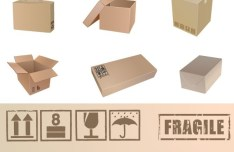 Set Of Vector Packaging Box Mockups 01