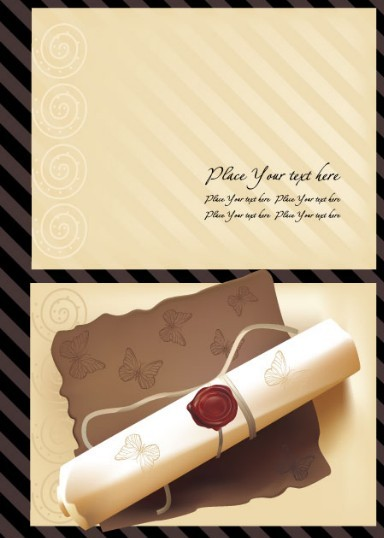 Vintage Note Paper Template Vector 02