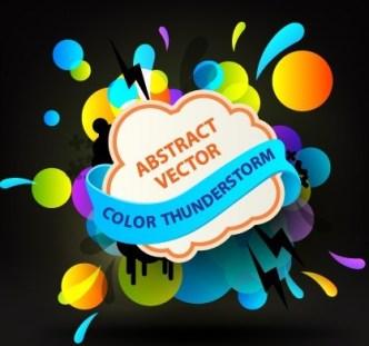Bright Colored Splash Background Vector 01