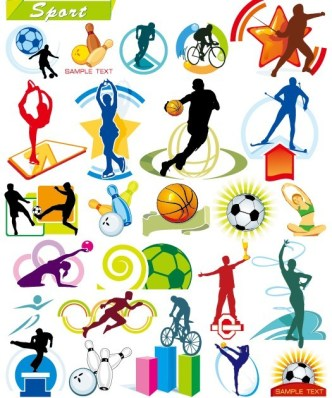 Collection Of Vector Sports Illustrations