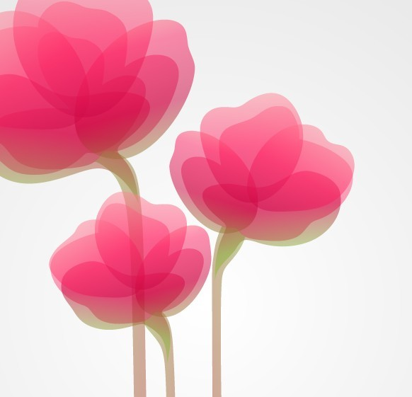 Pink Abstract Flower Background