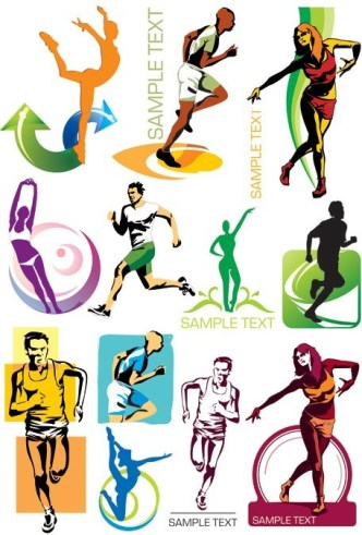 Vector Fitness and Sports Illustrations