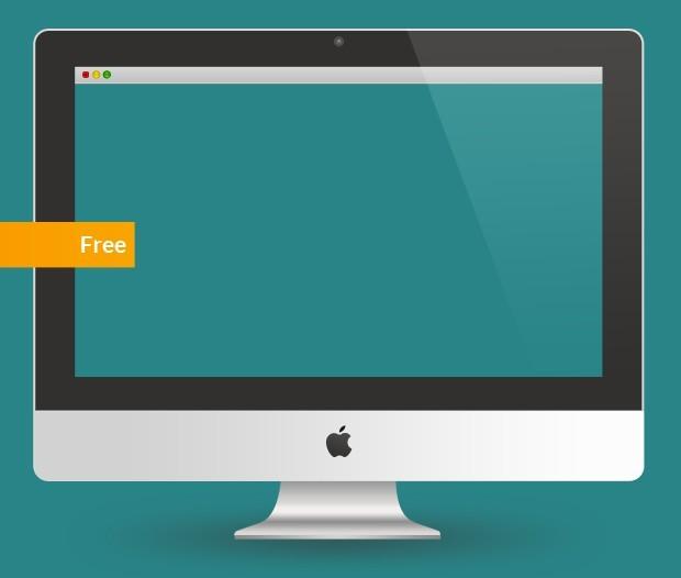 App iMac PSD Mockup Template