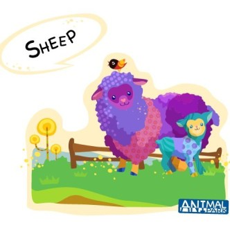 Cute Cartoon Sheep Vector Illustration