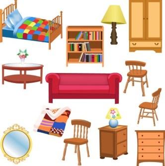 Set Of Vector Furniture Design Elements 02