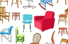 Set Of Vector Furniture Design Elements 03