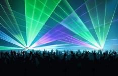 Vector Laser Light Show Background 02
