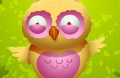 Cute Cartoon Owl Vector 03