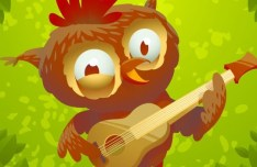 Cute Cartoon Owl Vector 04